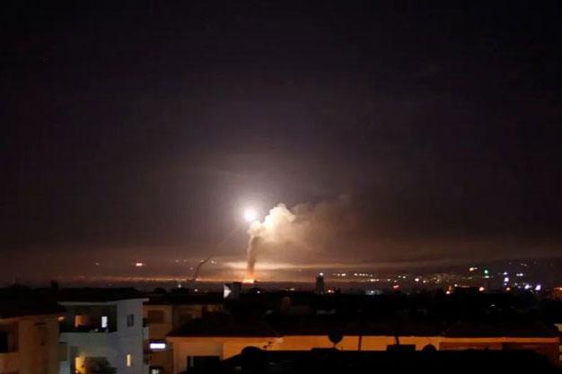 Israel không kích vào Syria ngay trong đêm.