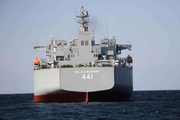 Tàu chiến lớn nhất Iran tham gia tập trận. Ảnh: MEO.