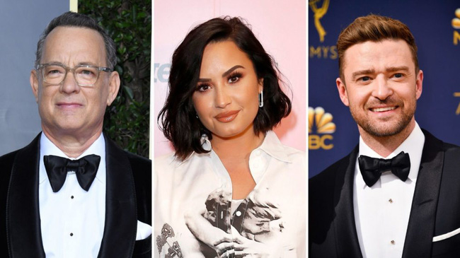 Từ trái sang: Tom Hanks, Demi Lovato và Justin Timberlake. (Ảnh: TV Inside)