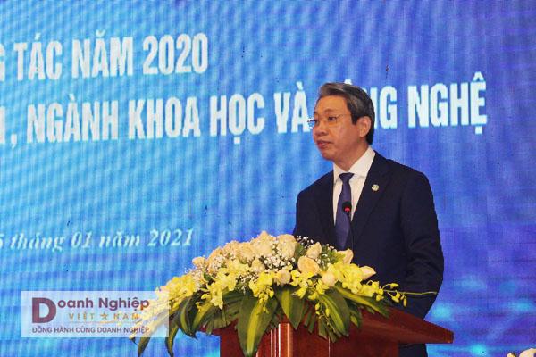 Ông Lê Đức Giang, Tỉnh ủy viên, Phó Chủ tịch UBND tỉnh, Chủ tịch Hội đồng KH&CN tỉnh Thanh Hóa phát biểu chỉ đạo tại hội nghị.