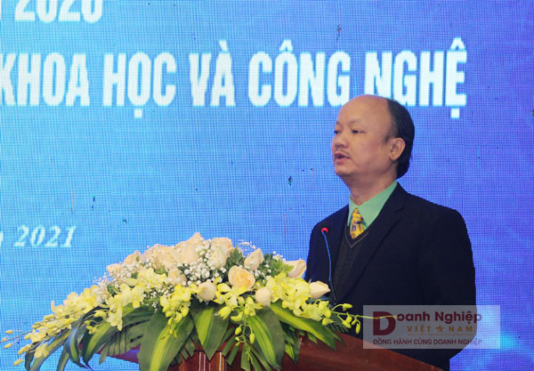 Chủ tịch CLB Doanh nghiệp KH&CN Thanh Hóa phát biểu tại buổi lễ
