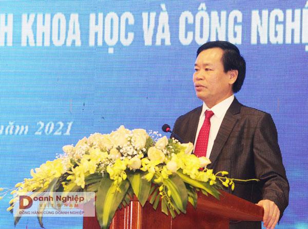 Giám đốc Sở KH&CN  Thanh Hóa Nguyễn Ngọc Túy phát biểu tại hội nghị.