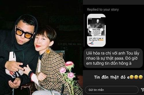 Tóc Tiên 'dở khóc dở cười' khi fan hỏi: 'Hóa ra chị với anh Tou lấy nhau là sự thật ạ'