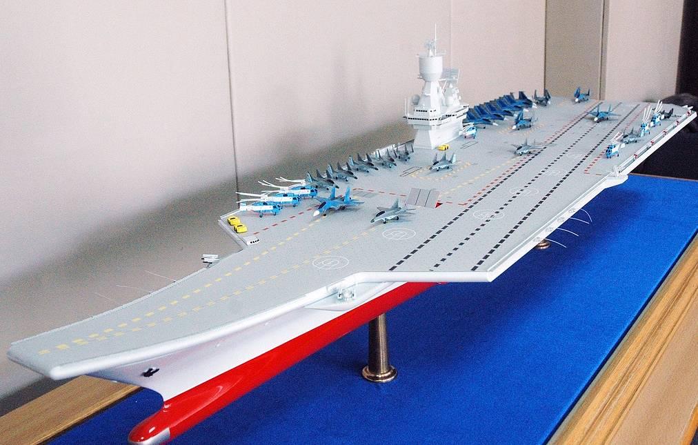 Một mô hình tàu sân bay tương lai của Hải quân Nga. Ảnh: Topwar.