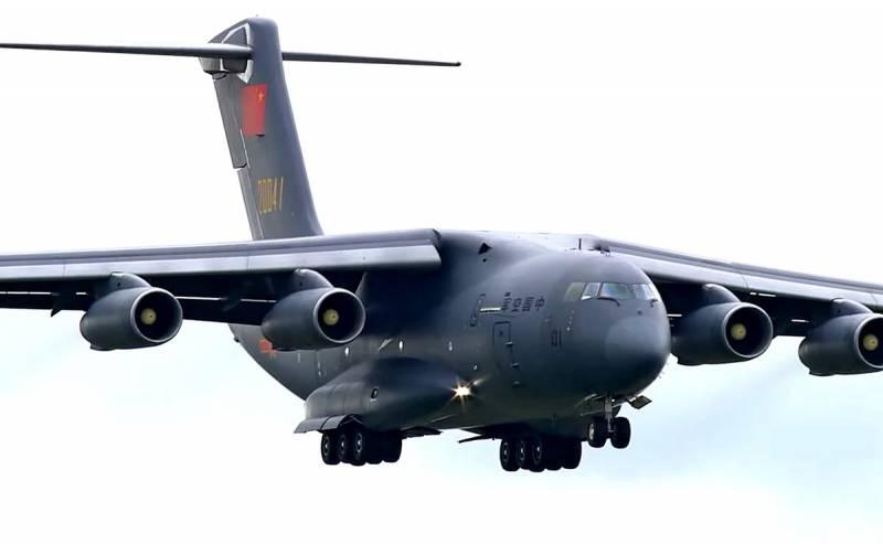 Máy bay vận tải hạng nặng Y-20 của Trung Quốc. Ảnh: Sina.