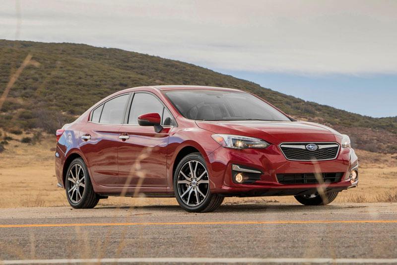 8. Subaru Impreza Sedan (giá: 18.695-25.795 USD).
