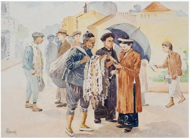 Bo tranh hiem ve canh sinh hoat o mien Bac Viet Nam xua-Hinh-6