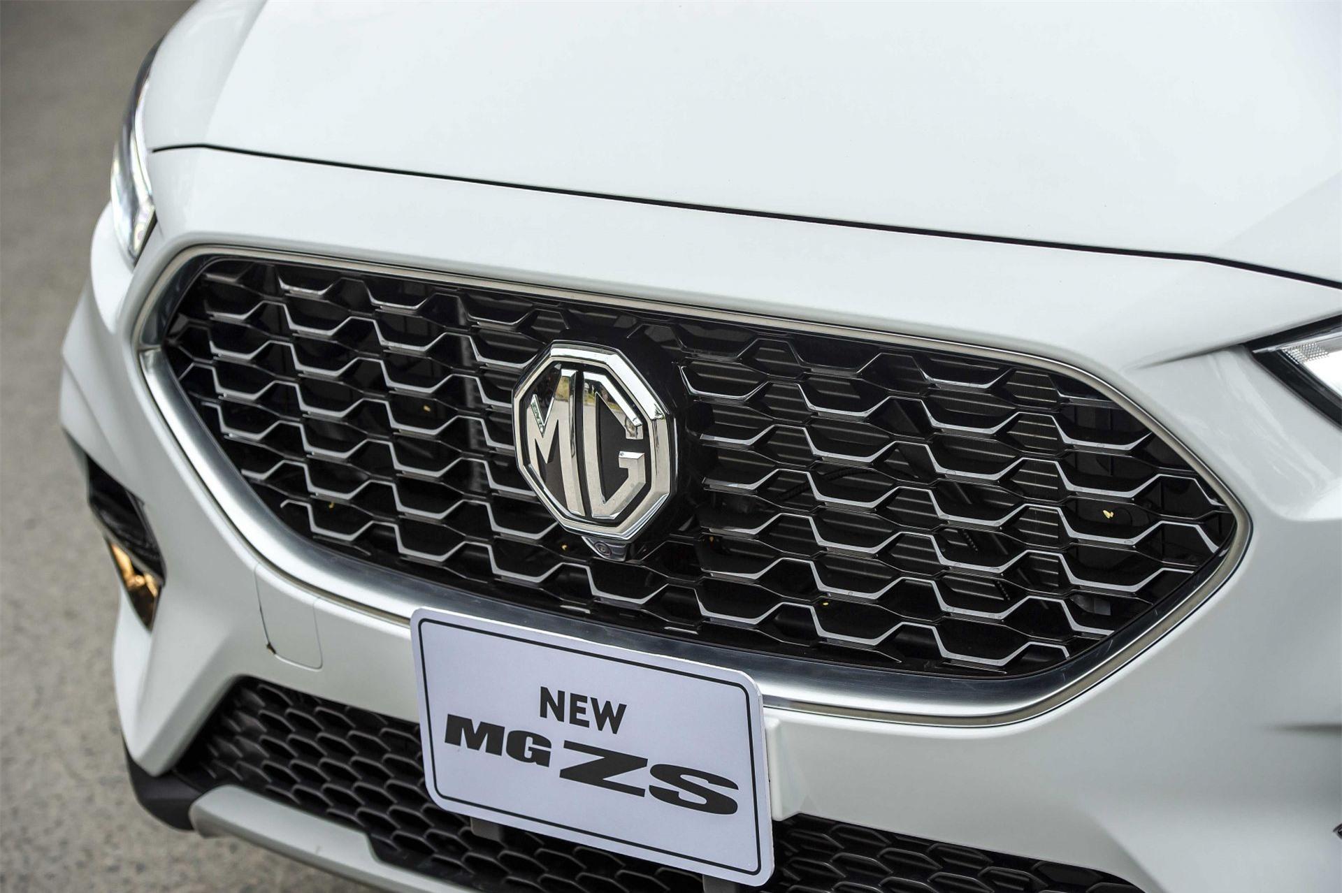 Lưới tản nhiệt mới trên MG ZS 2021