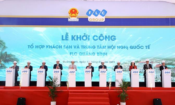 lễ khởi công tổ hợp khách sạn và trung tâm hội nghị FLC quảng Bình
