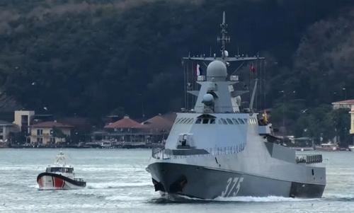Tàu tuần tra Dự án 22160 Dmitry Rogachev của Hải quân Nga. Ảnh: TASS.