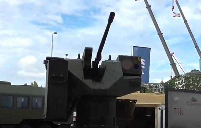 Module chiến đấu Okhotnik nhận súng máy 6P49 Kord. Ảnh: TASS.
