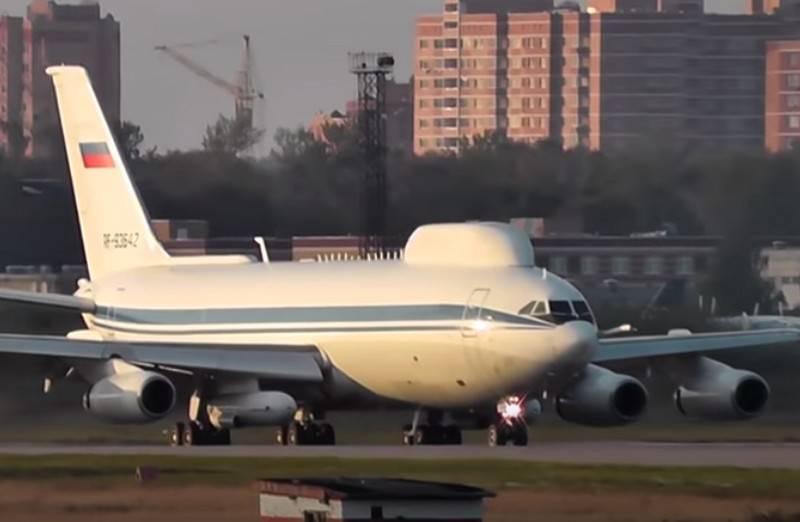 Máy bay ngày tận thế Il-80 của Nga. Ảnh: RIA Novosti.
