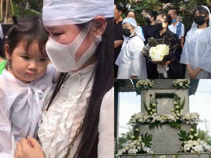 Hình ảnh xúc động nghẹn ngào trong lễ an táng ca sĩ Vân Quang Long