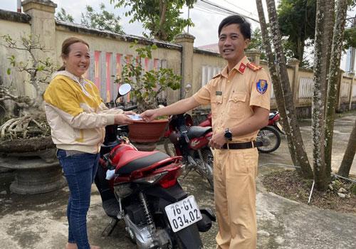 Quảng Ngãi: Bất ngờ tìm được xe máy bị mất trộm 7 năm trước