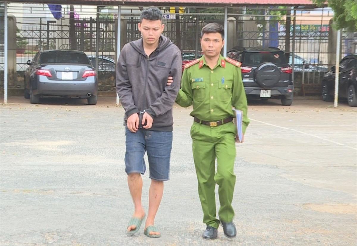 Đối tượng Tuấn bị bắt giữ