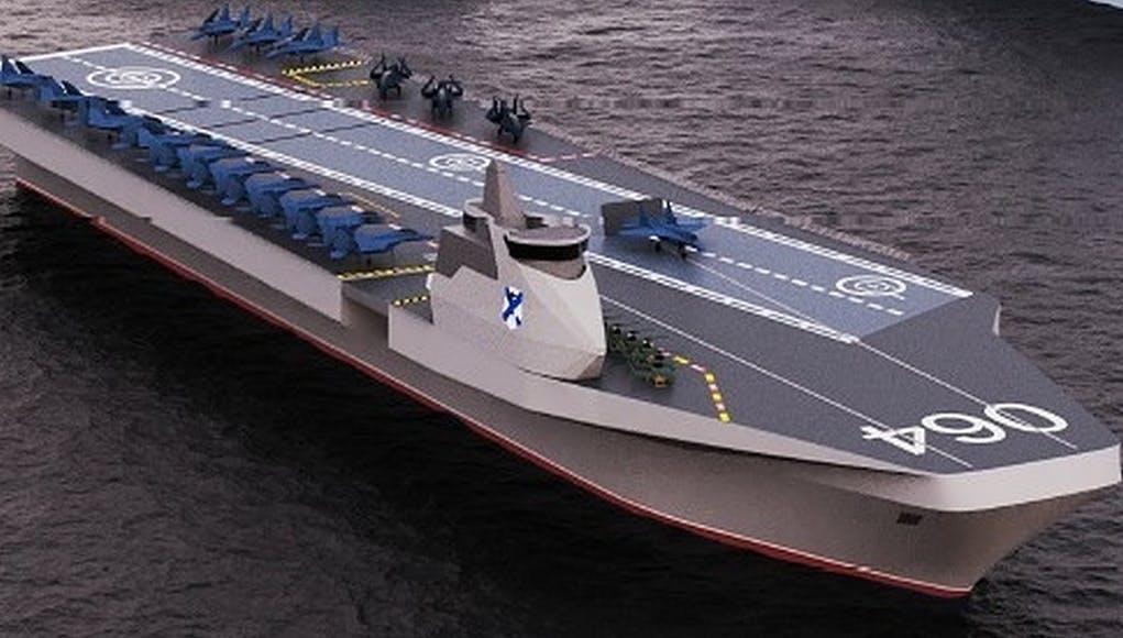 Đồ họa tàu sân bay tương lai thuộc Dự án Varan của Nga. Ảnh: Military Watch.