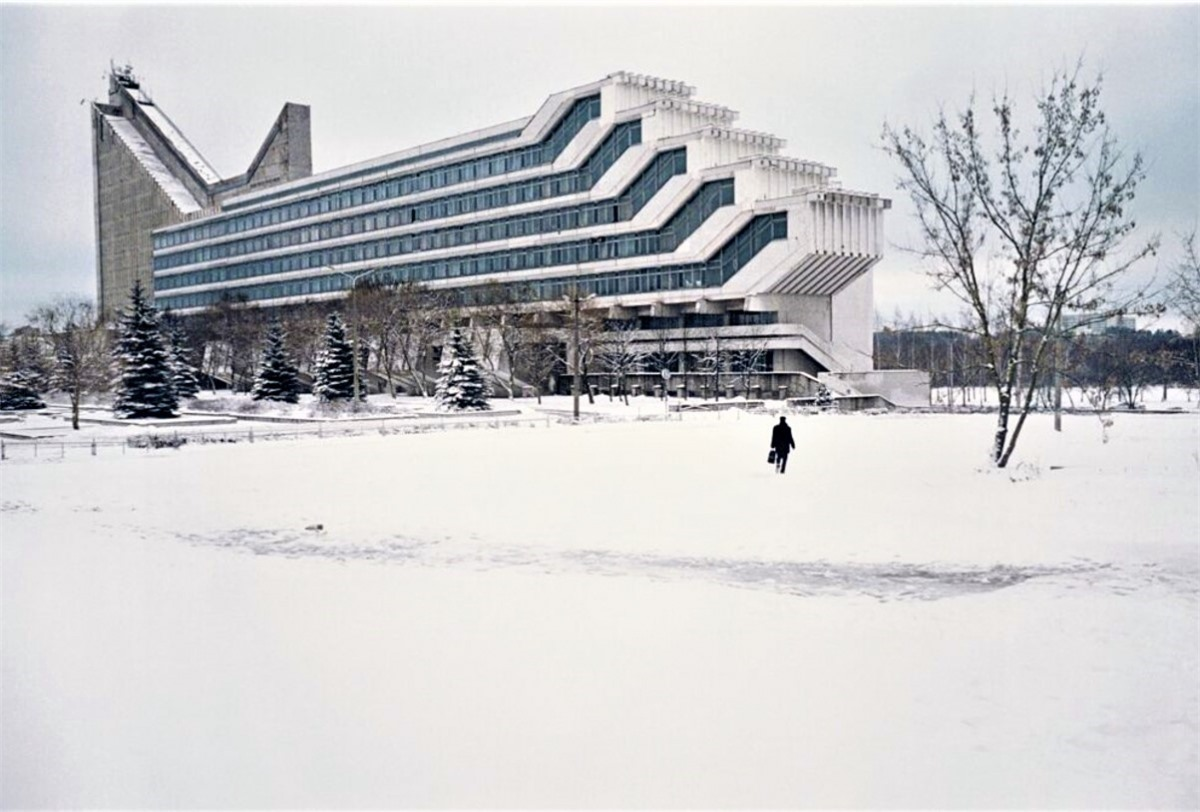 Tòa nhà thứ 15 của Đại học Bách khoa Quốc gia Belarus, Minsk, Belarus.