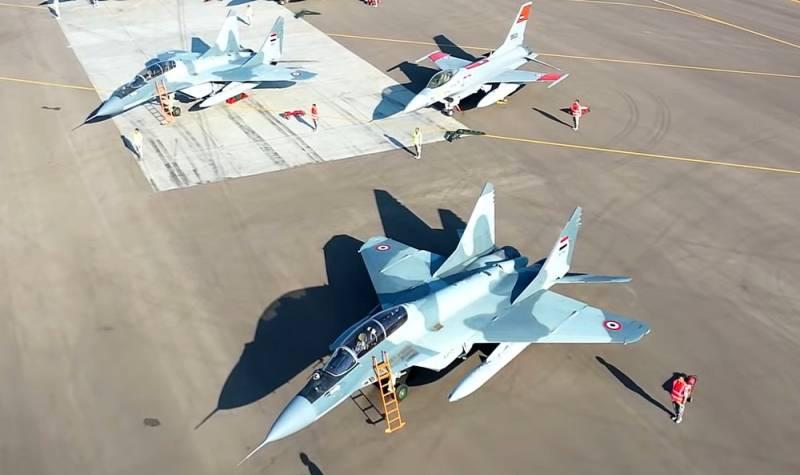 Tiêm kích MiG-29M của Không quân Ai Cập. Ảnh: Topwar.