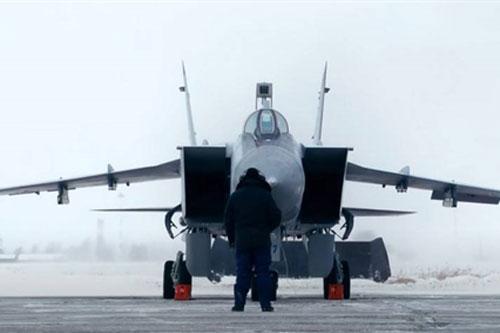 """Tiêm kích MiG-31BM """"khóa chặt"""" Bắc Cực từ Novaya Zemlya"""