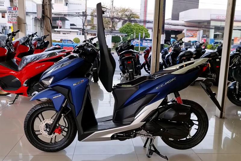 Ngắm Honda Click 150i 2021 phiên bản màu xanh, giá hơn 47 triệu đồng