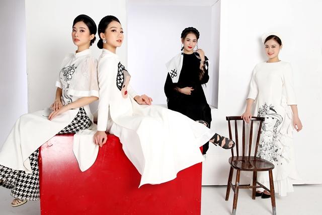 bộ sưu tập áo dài lấy cảm hứng từ dân ca quan họ