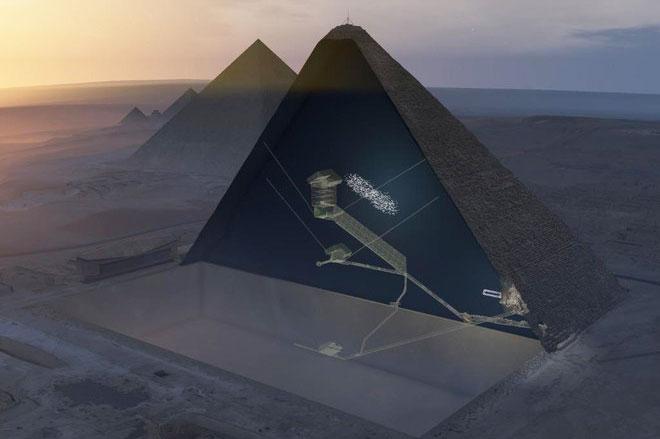 Đặt chân vào hành lang bí ẩn của Đại Kim tự tháp Giza