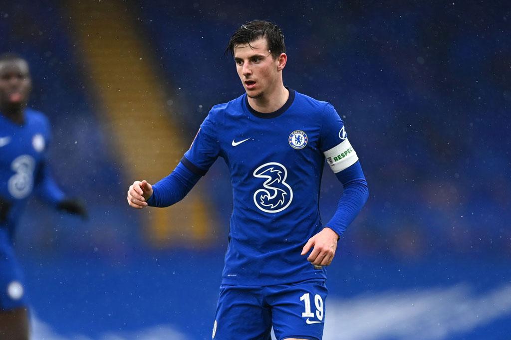 =7. Mason Mount (Chelsea, 22 tuổi, định giá chuyển nhượng: 40,5 triệu bảng).