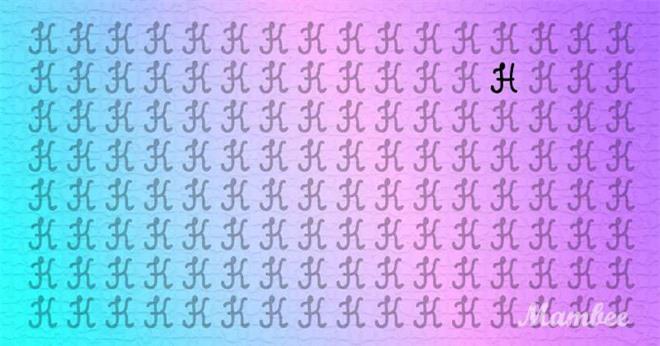 Thách thức thị giác 5 giây: Trong bảng toàn chữ K, có một chữ cái khác, đố bạn tìm ra! - Ảnh 2.