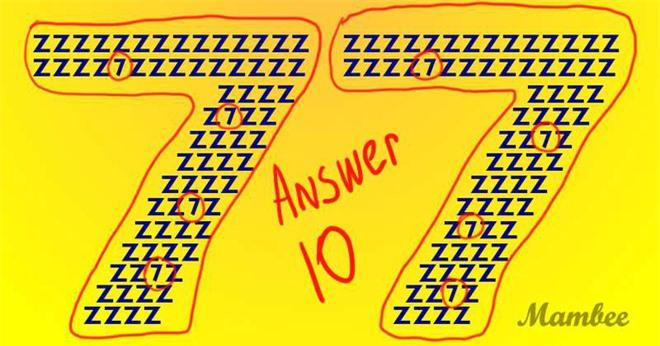 Thách thức thị giác: Đố bạn tìm ra chính xác 10 con số 7 trong vòng 8 giây! - Ảnh 3.