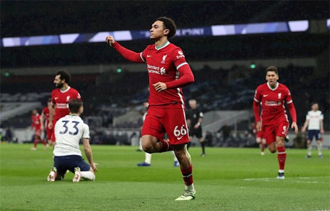 Alexander-Arnold là cầu thủ xuất sắc nhất ở trận Tottenham vs Liverpool