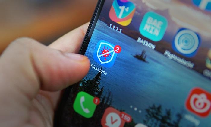 Bluezone nằm trong top ứng dụng miễn phí được tải về nhiều nhất.