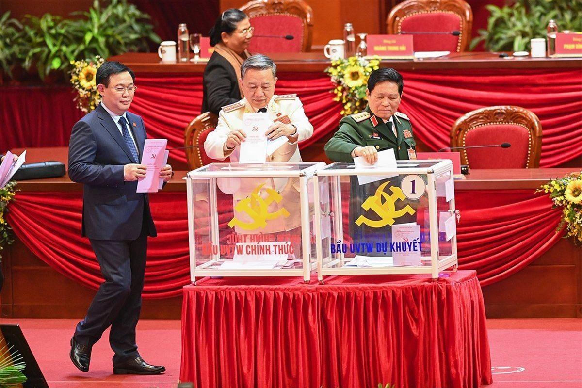 Những ủy viên Bộ Chính trị, Ban Bí thư tái cử Trung ương khóa XIII
