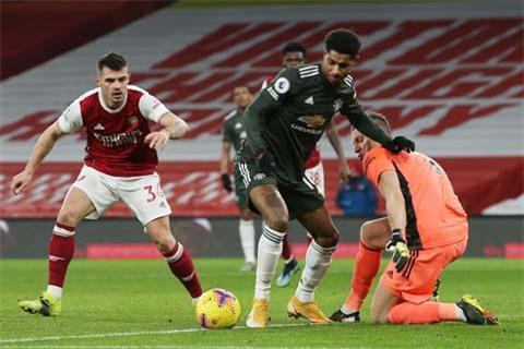 Bị Arsenal cầm hòa, Marcus Rashford và đồng đội không thắng 3/4 trận gần nhất tại Premier League