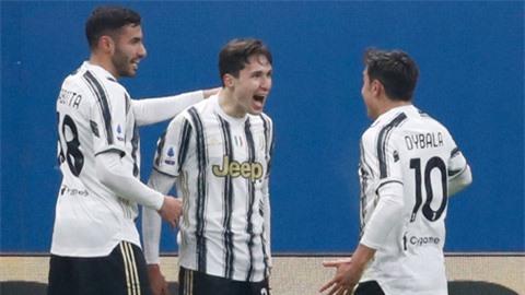Trong tháng 1/2021, Chiesa (giữa) đã có 5 bàn cho Juve, nhiều nhất đội