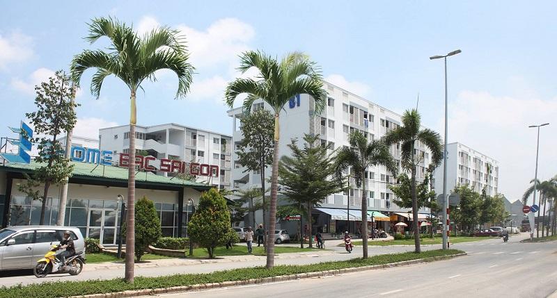 Chung cư Ehome 4 - đường Vĩnh Phú 41, khu phố Hòa Long, phương Vĩnh Phú, TP. Thuận An – nơi bệnh nhân Covid-19 thứ 6 của Bình Dương sinh sống đã bị phong toả.