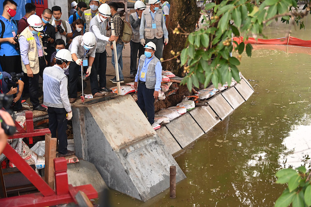 Công trình Kè Hồ Hoàn Kiếm lọt top sự kiện khoa học công nghệ năm 2020.