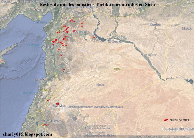 Quân đội Syria tấn công bằng 50 tên lửa chiến thuật Tochka-U