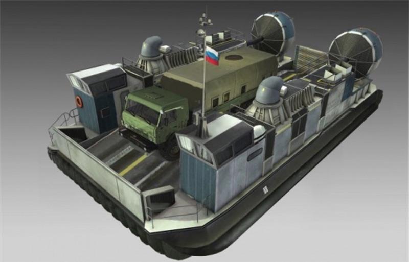 Các đặc tính kỹ thuật của Haska-10 áp dụng theo tiêu chí đóng tàu thủy. Tuy nhiên, trên thực tế, đó là phà chở hàng - chở khách trên mọi địa hình. Chiều dài 22,3m, rộng 12,9m, cao 7,4m. Lượng choán nước - lên đến 45 tấn, trọng tải 0 tấn. Hai động cơ chính 1500 mã lực mỗi chiếc cho phép lướt trên bề mặt với vận tốc lên tới 74km/h.
