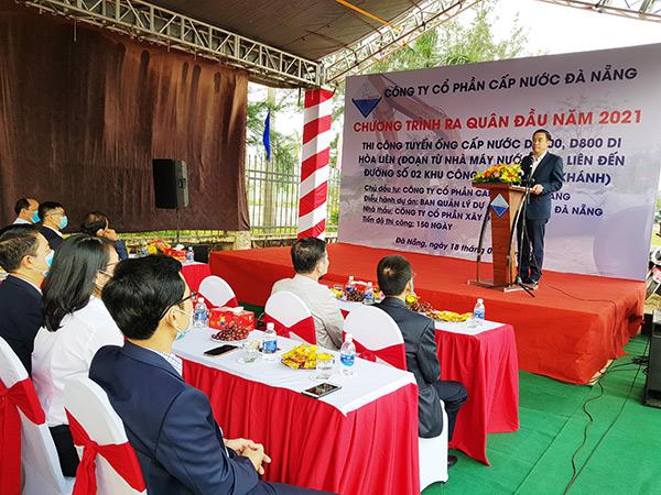 Chủ tịch UBND TP Đà Nẵng Lê Trung Chinh phát biểu chỉ đạo
