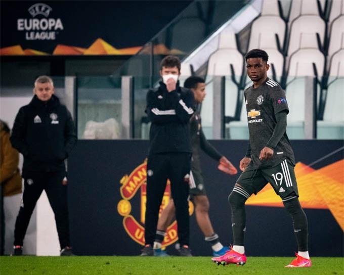 Amad Diallo đã có lần đầu ra mắt đội một MU ở trận thắng Sociedad