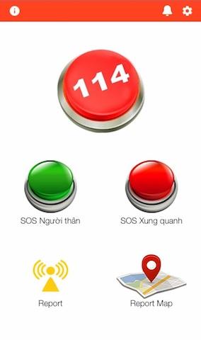 Ứng dụng Help 114 báo cháy, nổ, tai nạn, sự cố trên địa bàn TP.HCM (PC07).