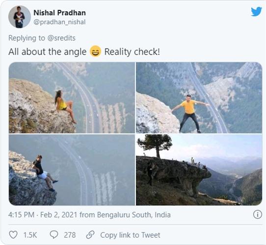 """Chia sẻ bức ảnh chụp trên vách đá cheo leo, cặp đôi bị """"ném đá tơi bời"""" vì quá mạo hiểm, nhưng sự thật bất ngờ phía sau khiến tất cả câm nín - Ảnh 3."""