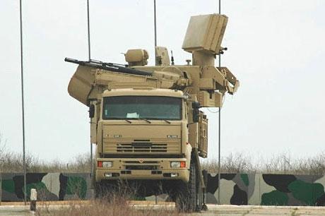 hệ thống tên lửa và pháo phòng không Pantsir-S của Nga.