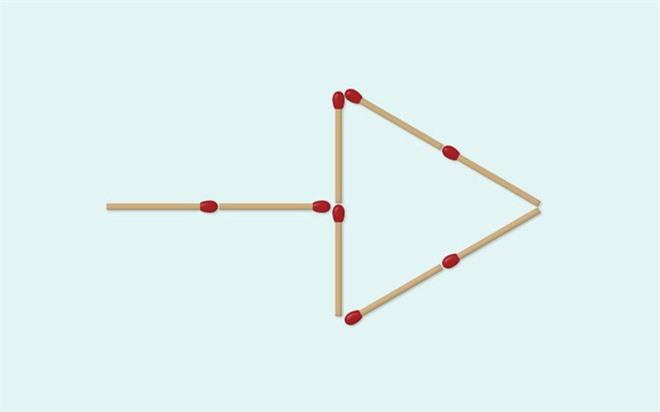 Thách thức trí não 5 giây: Đố bạn di chuyển 4 que diêm để xếp thành 2 hình tam giác - Ảnh 1.