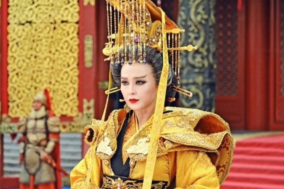 Hình ảnh Võ Tắc Thiên trong phim.
