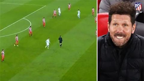 Atletico bị chế giễu vì dùng đội hình 6-3-1 trước Chelsea