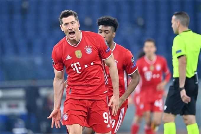 Lewandowski mở tỷ số ở trận Lazio vs Bayern