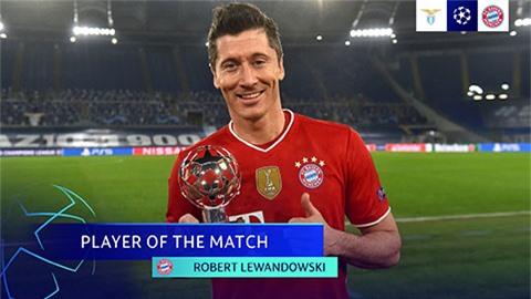 Lewandowski vươn lên Top 3 chân sút vĩ đại nhất lịch sử Champions League