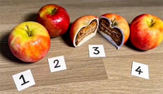 Thách thức thị giác 3 giây: Đố bạn đâu là quả táo giả đang trà trộn trong ảnh? - Ảnh 1.