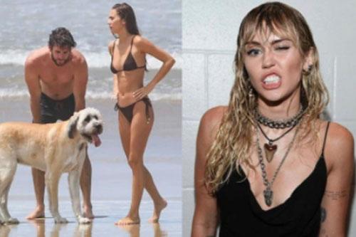 """Miley Cyrus tình duyên lận đận hậu ly hôn, chồng cũ khoe """"cẩu lương"""" bên bạn gái """"bốc lửa"""""""